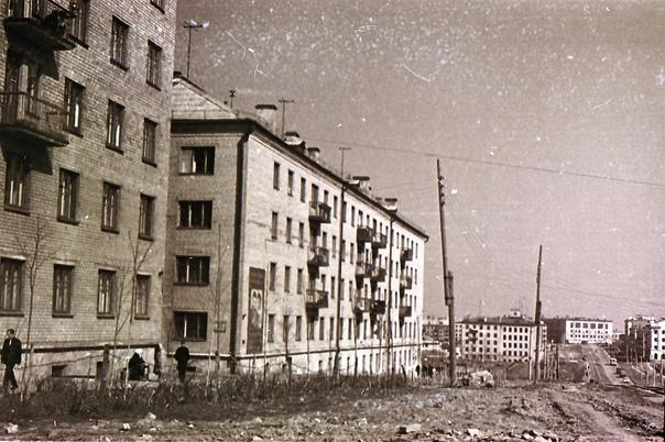 Улица Бекетова в районе домов №2 и 4, начало 60х г...